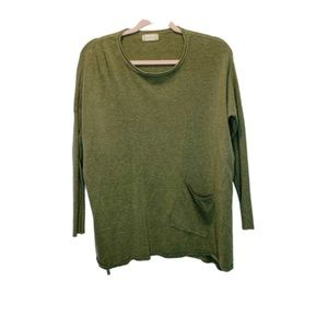 Altar'd State, Olive Green Sweater w/ Front Pocket